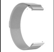 Strap-it® Milanese horlogeband 22mm - universeel - zilver