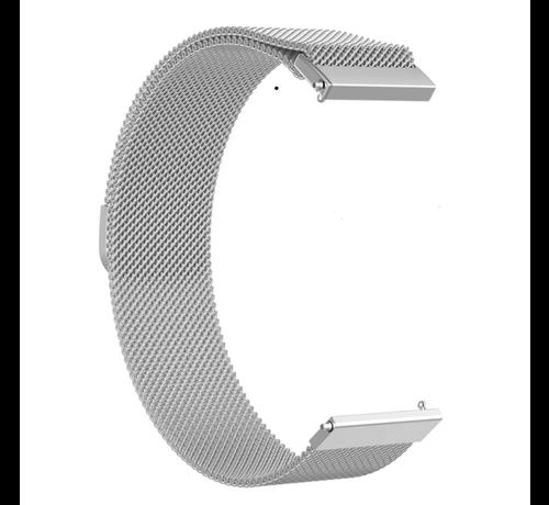 Strap-it® Strap-it® Milanese horlogeband 22mm - universeel - zilver