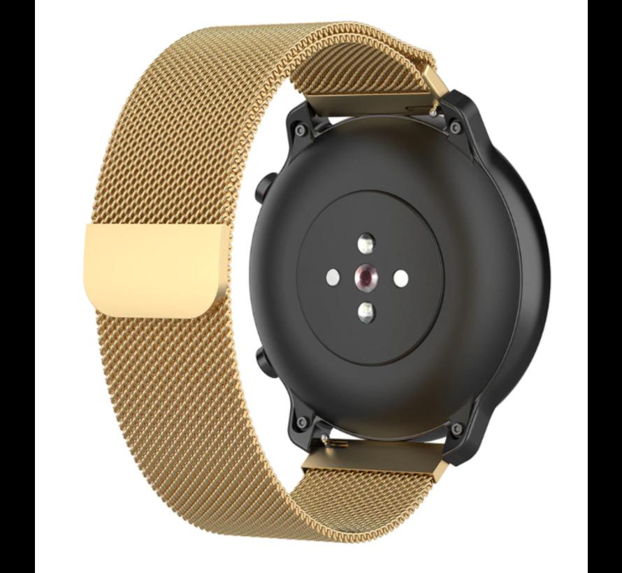 Strap-it® Milanese horlogeband 22mm - universeel - goud