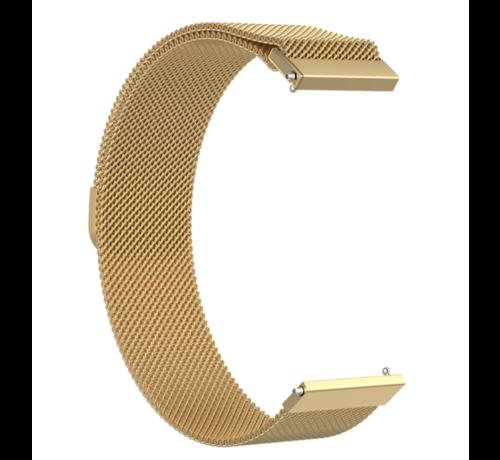 Strap-it® Strap-it® Milanese horlogeband 22mm - universeel - goud