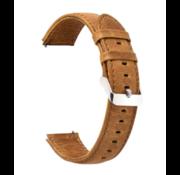 Strap-it® Lederen horlogeband 22mm - universeel - bruin