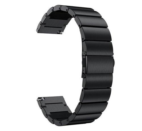 Strap-it® Strap-it® metalen horlogeband 22mm - universeel - zwart