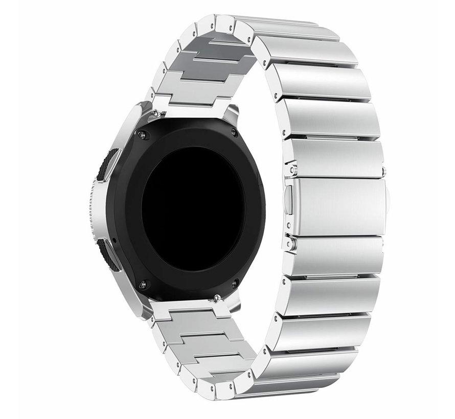 Strap-it® metalen horlogeband 22mm - universeel - zilver