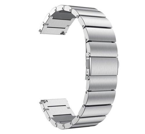 Strap-it® Strap-it® metalen horlogeband 22mm - universeel - zilver