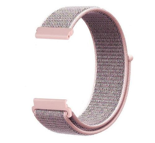 Strap-it® Strap-it® Garmin Vivoactive 4s nylon band - 40mm - pink sand