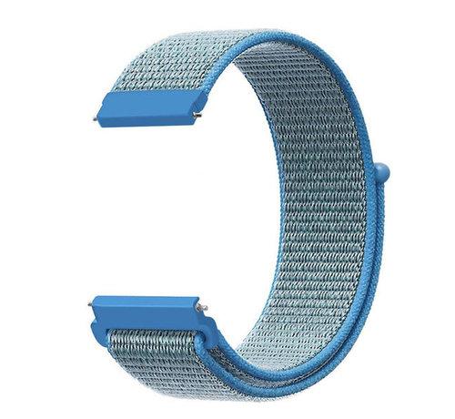 Strap-it® Strap-it® Garmin Vivoactive 4s nylon band - 40mm - blauw