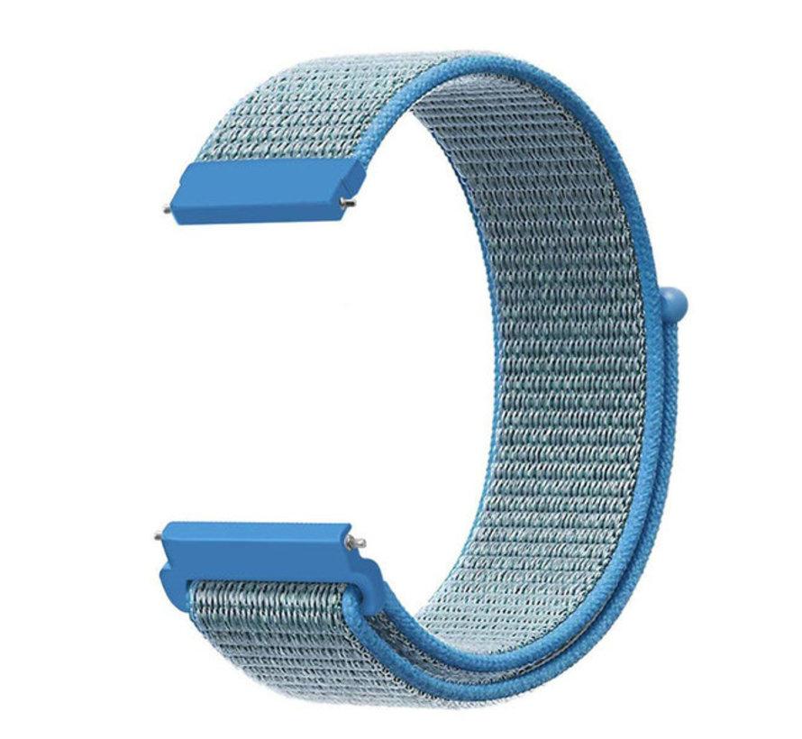 Strap-it® Garmin Vivoactive 4s nylon band - 40mm - blauw