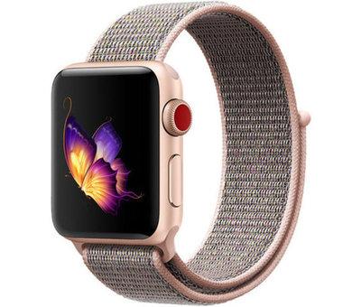 Strap-it® Strap-it® Apple Watch nylon bandje (pink sand)