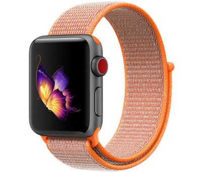 Strap-it® Strap-it® Apple Watch nylon  band (oranje)