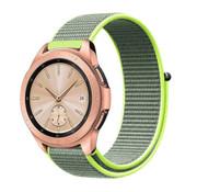 Strap-it® Samsung Galaxy Watch 41mm / 42mm nylon band (fluoriserend)
