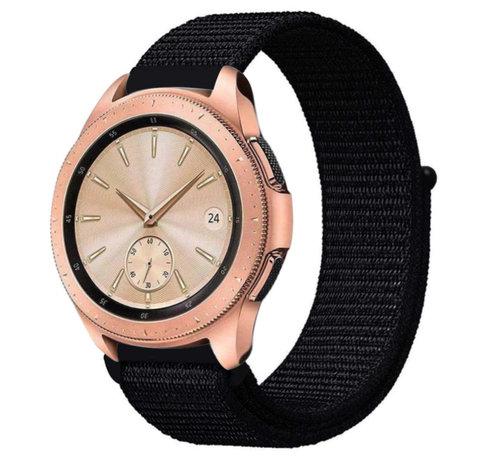 Strap-it® Strap-it® Samsung Galaxy Watch 41mm / 42mm nylon band (zwart)