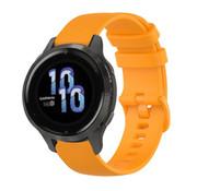 Strap-it® Garmin Venu 2s siliconen bandje - 40mm - oranje