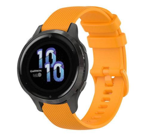 Strap-it® Strap-it® Garmin Venu 2s siliconen bandje - 40mm - oranje