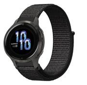 Strap-it® Garmin Venu 2s nylon band - 40mm - zwart