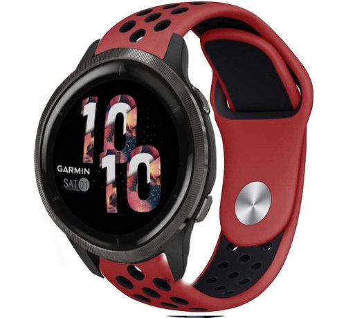 Strap-it® Strap-it® Garmin Venu 2 sport bandje - 45mm - rood/zwart