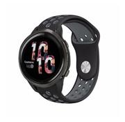 Strap-it® Garmin Venu 2 sport bandje - 45mm - zwart/grijs