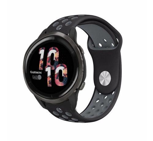 Strap-it® Strap-it® Garmin Venu 2 sport bandje - 45mm - zwart/grijs