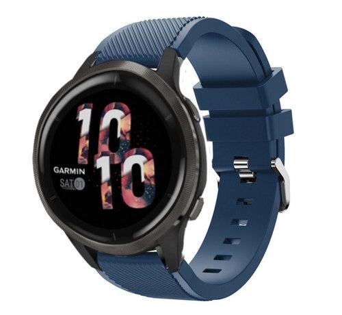 Strap-it® Strap-it® Garmin Venu 2 siliconen bandje - 45mm - donkerblauw