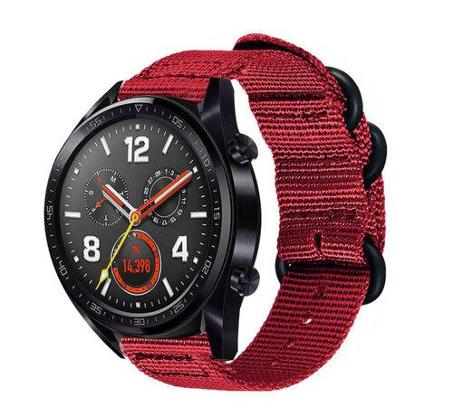 Strap-it® Strap-it® Huawei Watch GT nylon gesp band (rood)