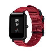 Strap-it® Xiaomi Amazfit Bip nylon gesp band (rood)