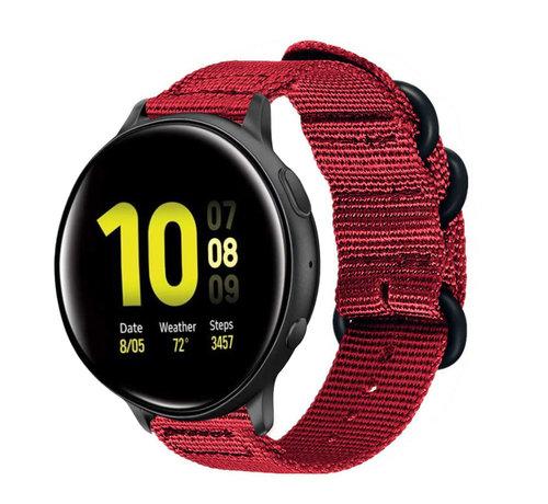 Strap-it® Strap-it® Samsung Galaxy Watch Active nylon gesp band (rood)