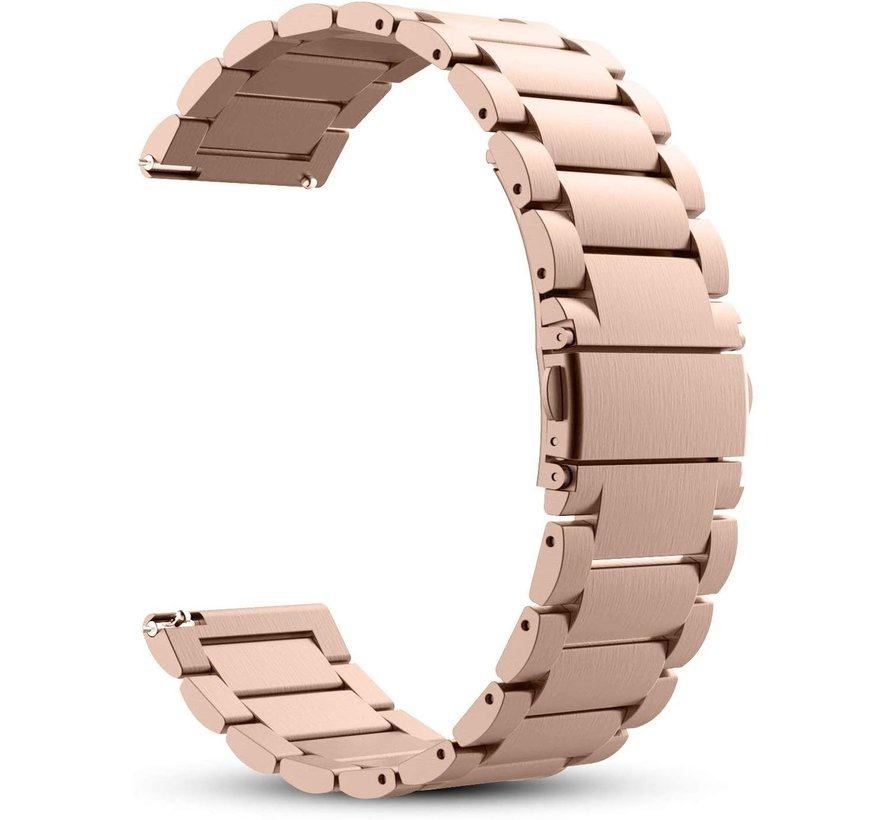 Strap-it® Garmin Venu 2s stalen band - 40mm - rosé goud