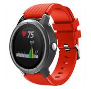 Strap-it® Garmin Vivoactive 3 siliconen bandje (rood)