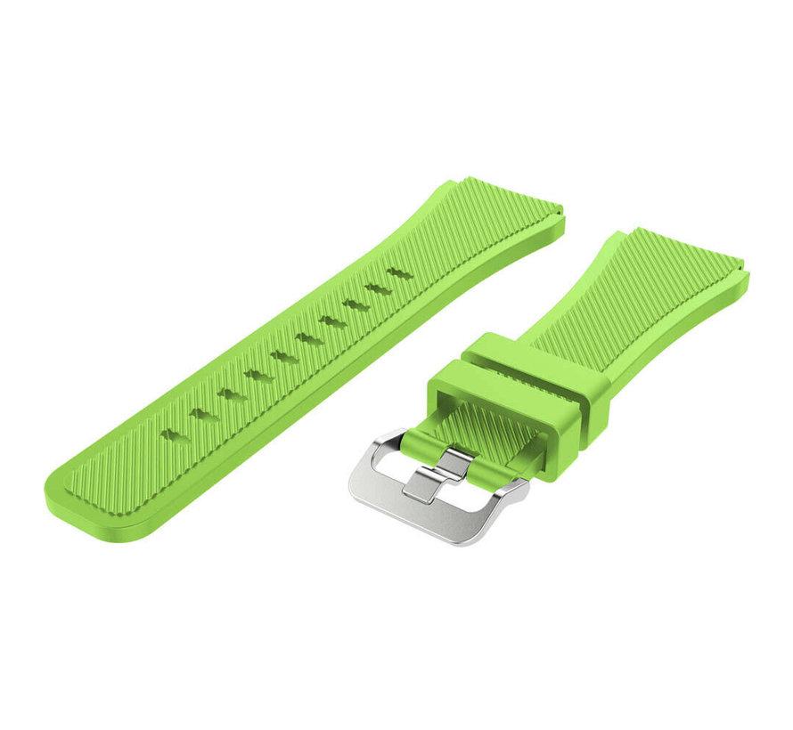 Strap-it® Garmin Vivoactive 3 siliconen bandje (lichtgroen)