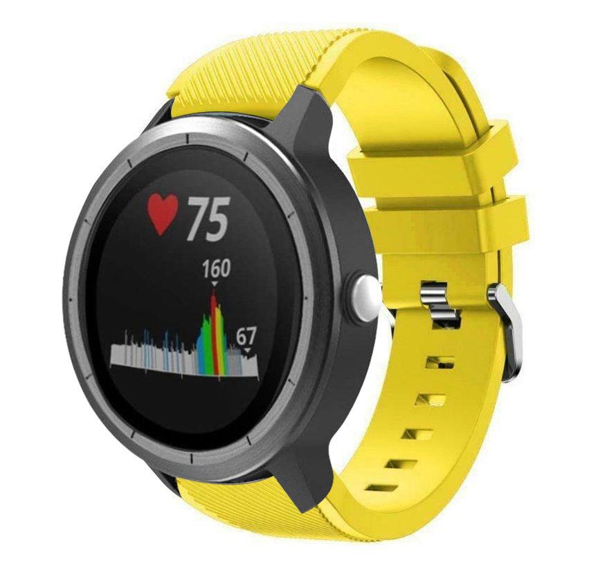 Strap-it® Garmin Vivoactive 3 siliconen bandje (geel)