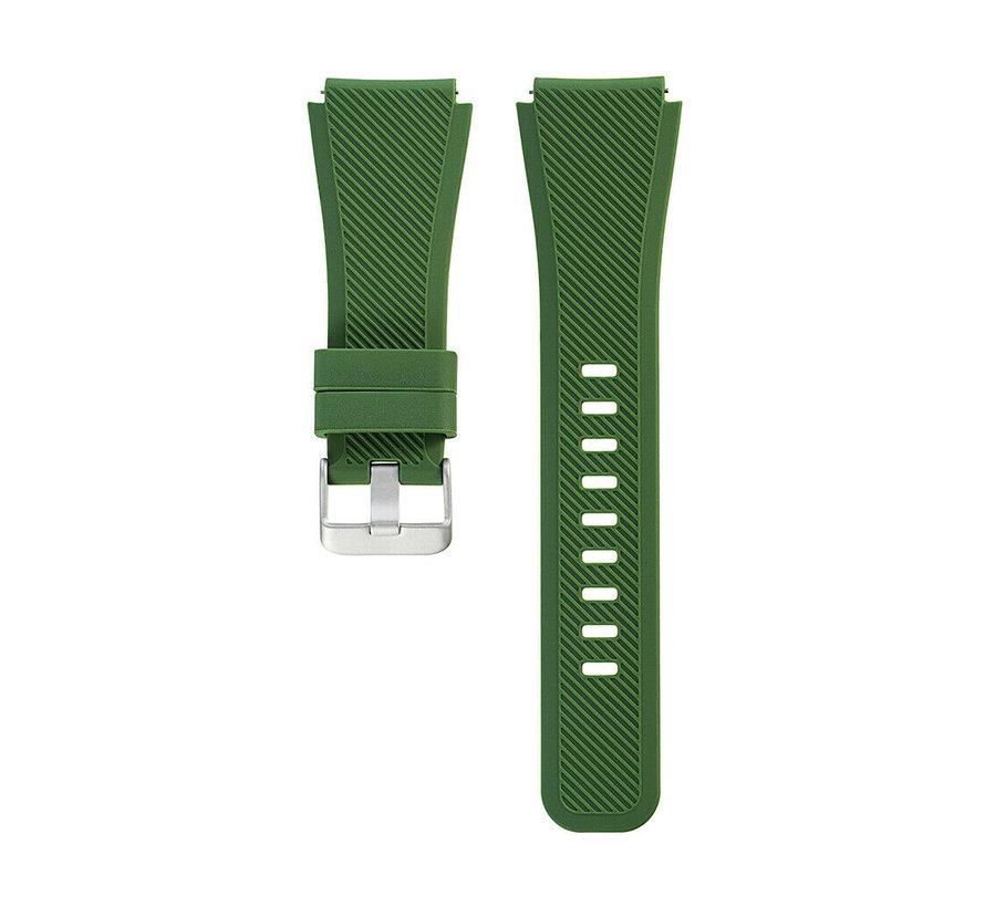 Strap-it® Garmin Vivoactive 3 siliconen bandje (legergroen)