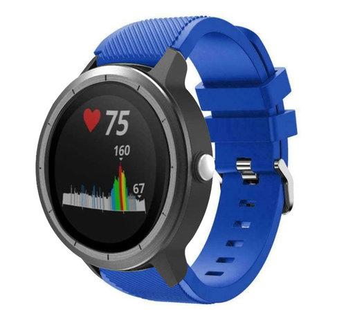 Strap-it® Strap-it® Garmin Vivoactive 3 siliconen bandje (blauw)