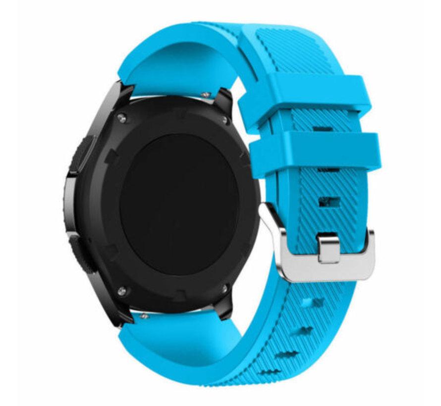 Strap-it® Garmin Vivoactive 3 siliconen bandje (lichtblauw)