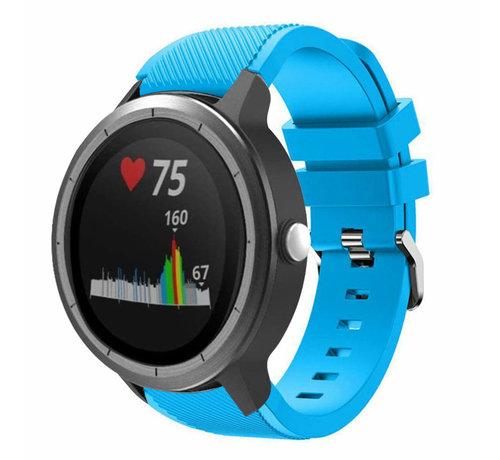 Strap-it® Strap-it® Garmin Vivoactive 3 siliconen bandje (lichtblauw)