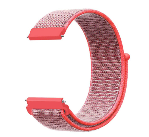 Strap-it® Strap-it® Garmin Vivoactive 4s nylon band - 40mm - roze/rood