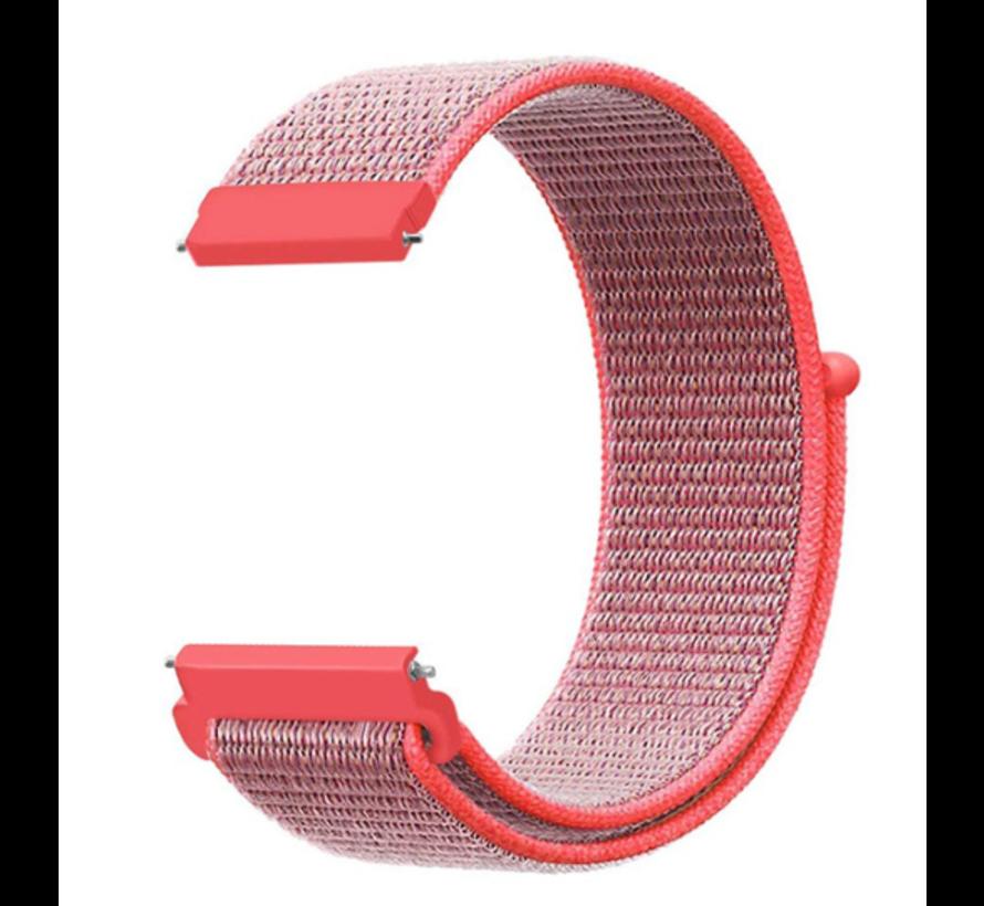 Strap-it® Garmin Vivoactive 4s nylon band - 40mm - roze/rood