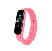 Strap-it® Xiaomi Mi band 6 siliconen bandje (roze)