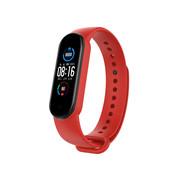 Strap-it® Xiaomi Mi band 6 siliconen bandje (rood)