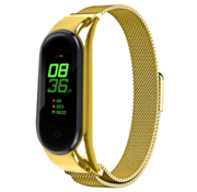 Strap-it® Xiaomi Mi band 6 Milanese band (goud)