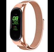 Strap-it® Xiaomi Mi band 6 Milanese band (rosé goud)