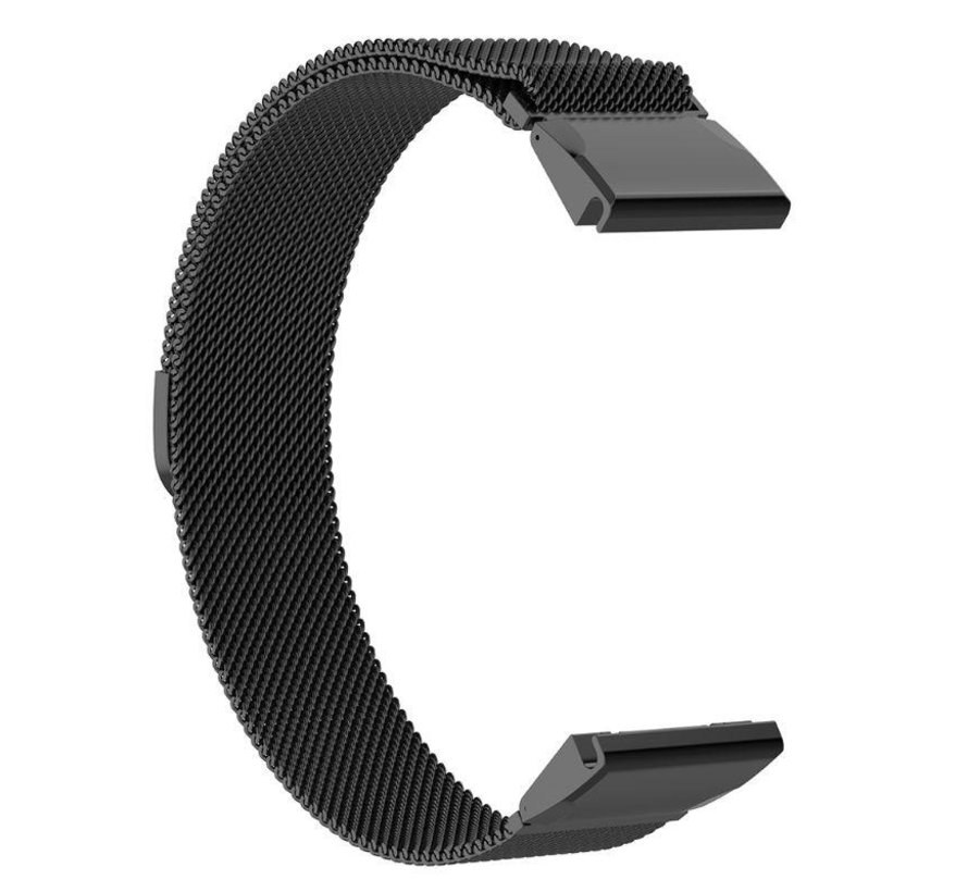 Strap-it® Garmin Fenix 5x / 6x Milanese band (zwart)