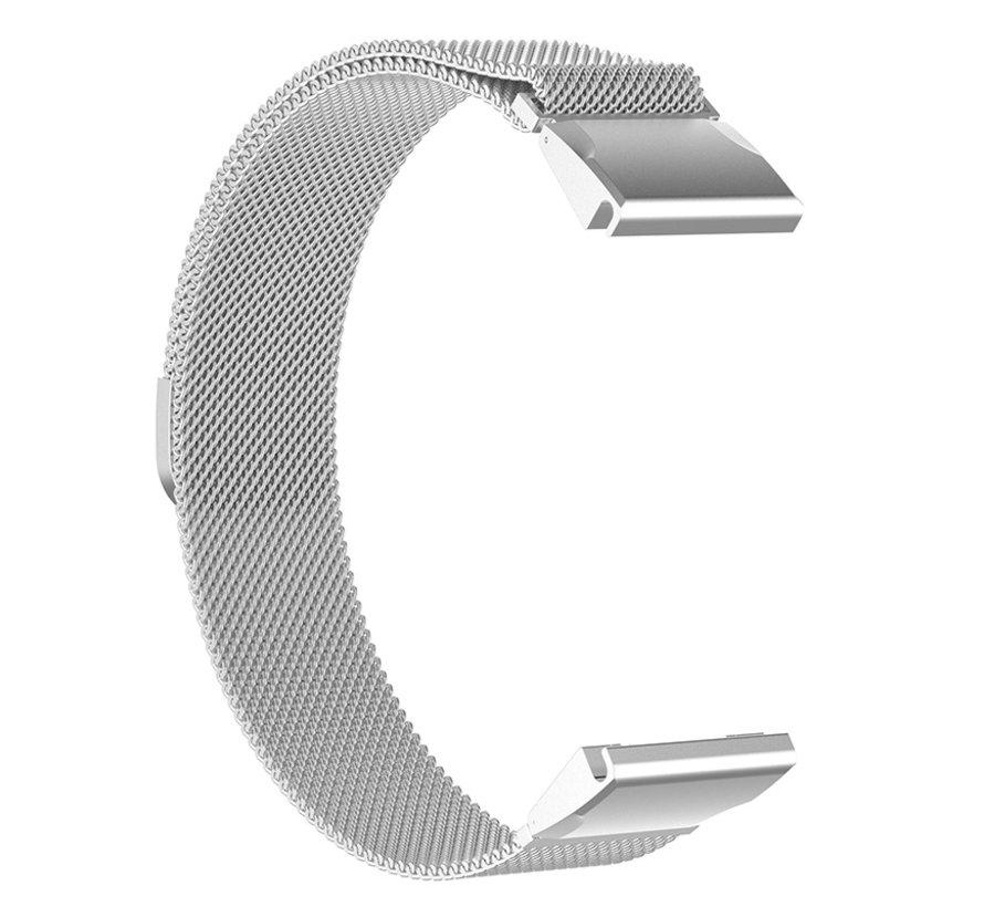 Strap-it® Garmin Fenix 5x / 6x Milanese band (zilver)