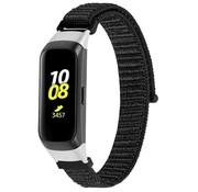 Strap-it® Samsung Galaxy Fit nylon bandje (zwart)