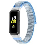 Strap-it® Samsung Galaxy Fit nylon bandje (lichtblauw)