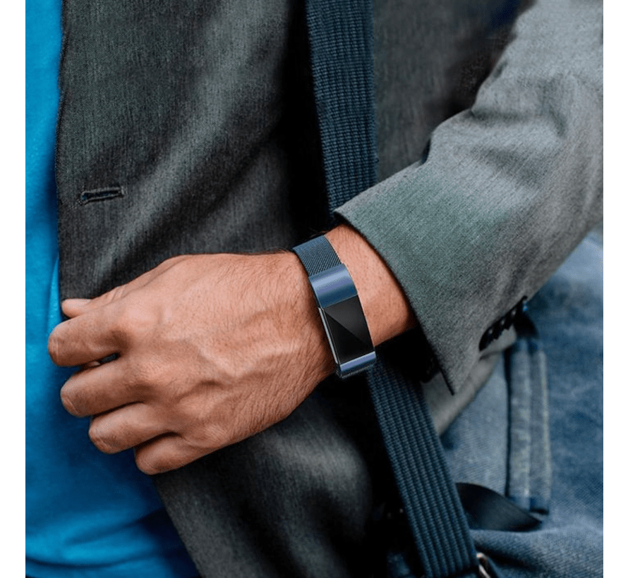Strap-it® Fitbit Charge 2 Milanese band (blauw)