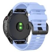 Strap-it® Garmin Fenix 5x / 6x siliconen bandje (lichtpaars)
