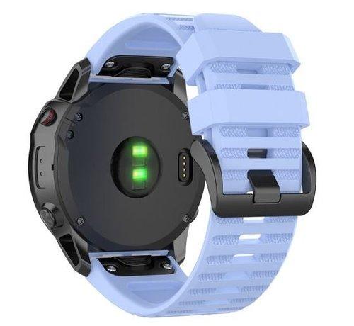 Strap-it® Strap-it® Garmin Fenix 5x / 6x siliconen bandje (lichtpaars)