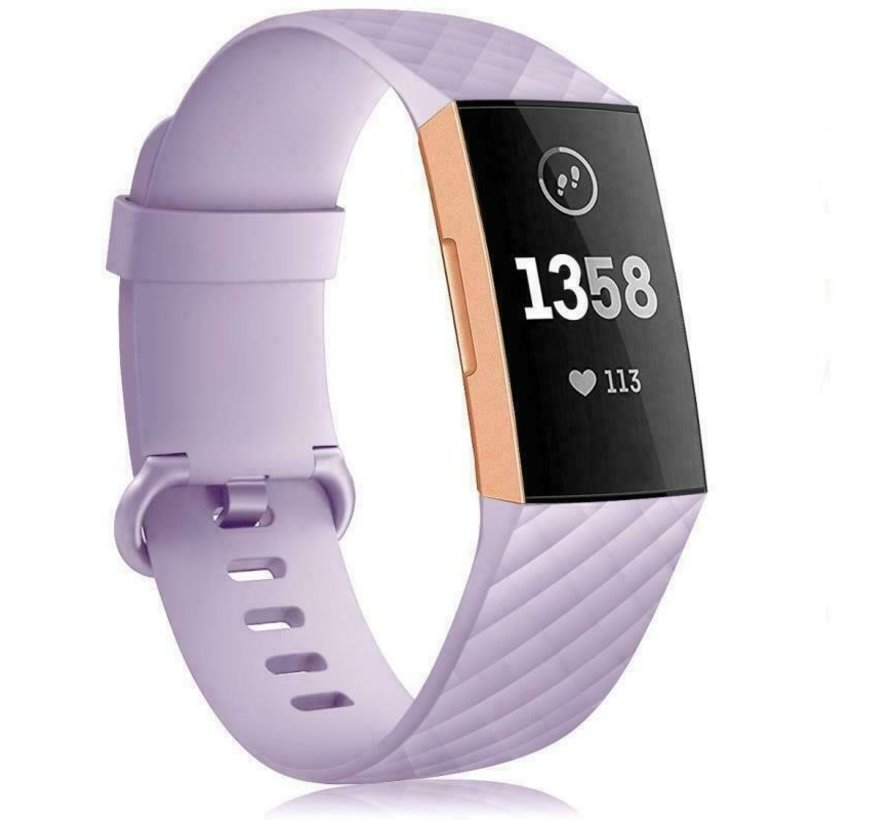 Strap-it® Fitbit Charge 3/4 silicone band (lila)