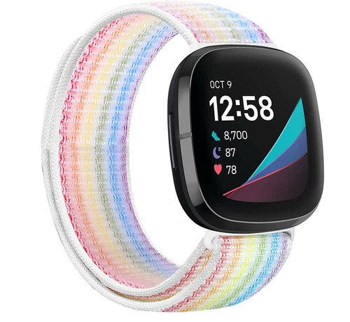 Strap-it® Strap-it® Fitbit Sense nylon bandje (kleurrijk)
