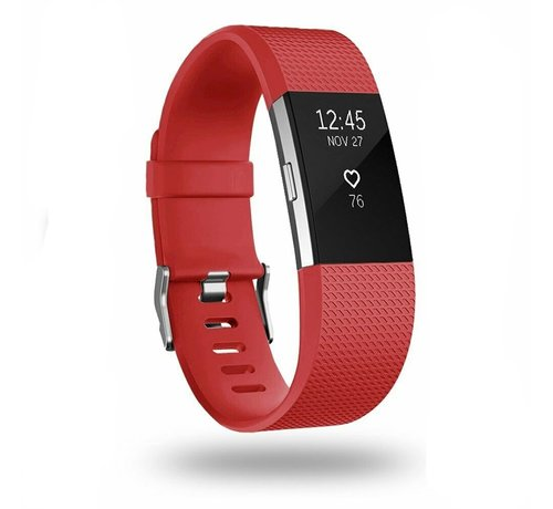 Strap-it® Strap-it® Fitbit Charge 2 siliconen bandje (rood)