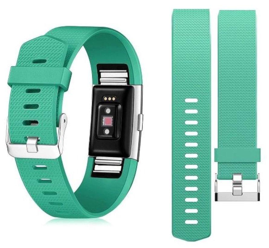 Strap-it® Fitbit Charge 2 siliconen bandje (aqua)